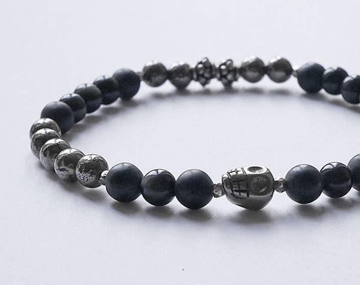 bracelet homme pyrite