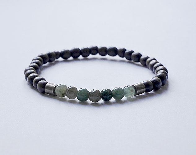 bracelet pour homme bois-exotique jaspe