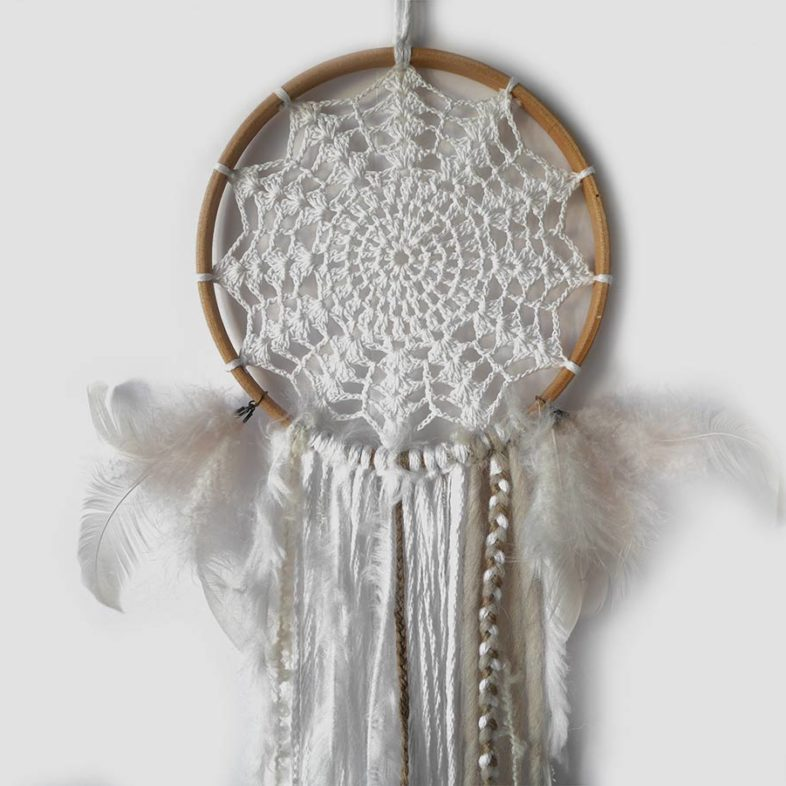 dream catcher plumes blanches
