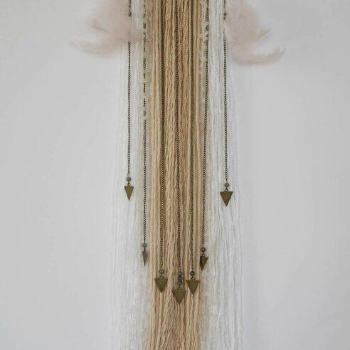 wall hanging bohème fil de laine