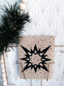Carte de Noël en papier découpé de Lumière Tilleul