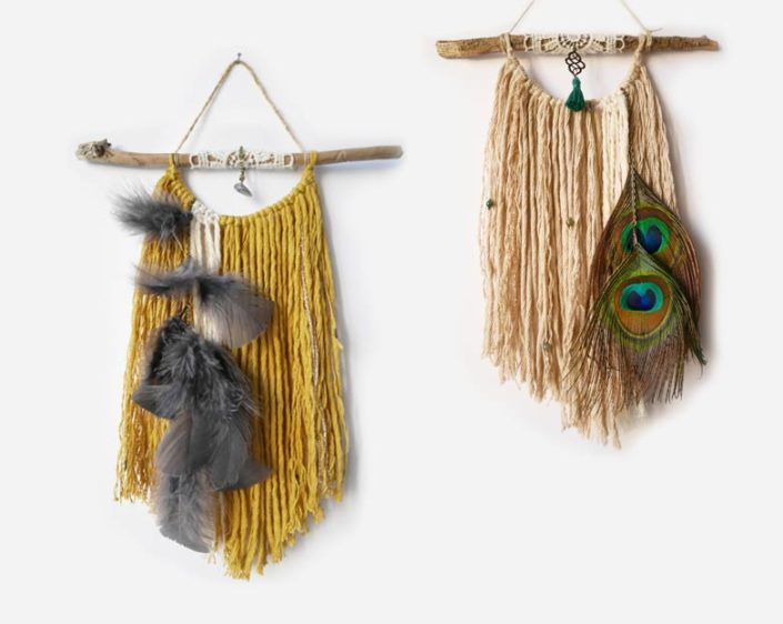 wall hangings laine et plumes