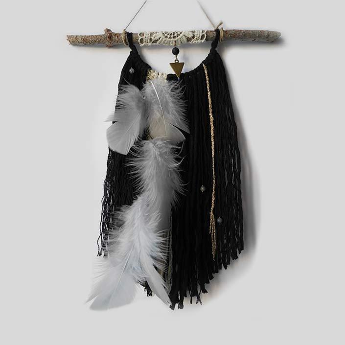 wall hanging birdy noir